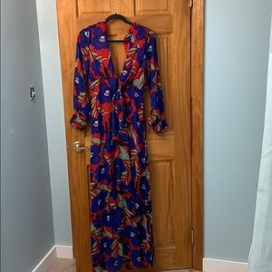 Long dress in vibrant colors